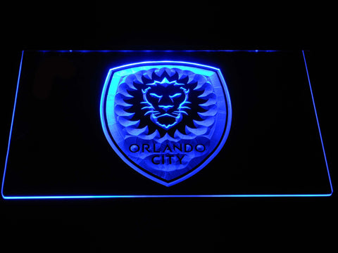 Image of Orlando City SC LED Neon Sign - Blue - SafeSpecial