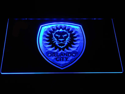 Orlando City SC LED Neon Sign - Blue - SafeSpecial