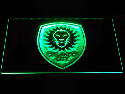 Image of Orlando City SC LED Neon Sign - Green - SafeSpecial