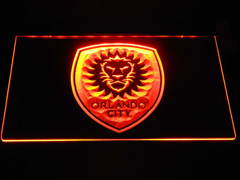 Image of Orlando City SC LED Neon Sign - Orange - SafeSpecial