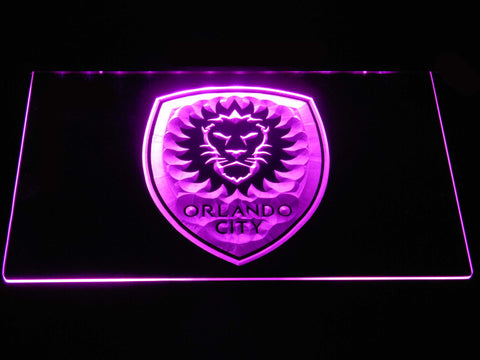 Image of Orlando City SC LED Neon Sign - Purple - SafeSpecial