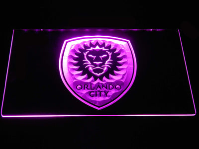 Orlando City SC LED Neon Sign - Purple - SafeSpecial