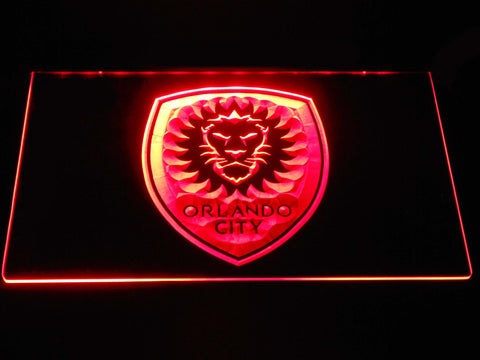 Image of Orlando City SC LED Neon Sign - Red - SafeSpecial