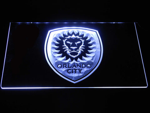Image of Orlando City SC LED Neon Sign - White - SafeSpecial