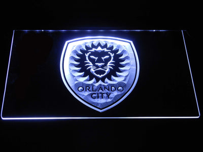 Orlando City SC LED Neon Sign - White - SafeSpecial