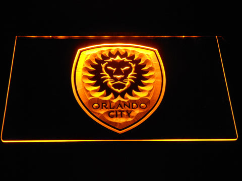 Image of Orlando City SC LED Neon Sign - Yellow - SafeSpecial