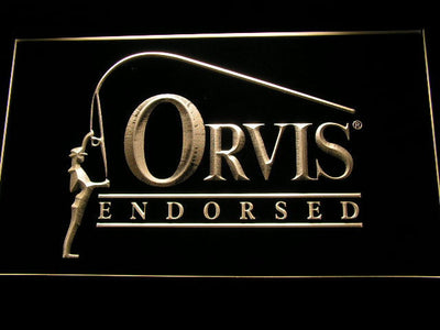 Orvis Endorsed LED Neon Sign - Yellow - SafeSpecial