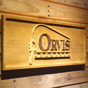 Orvis Endorsed Wooden Sign - - SafeSpecial
