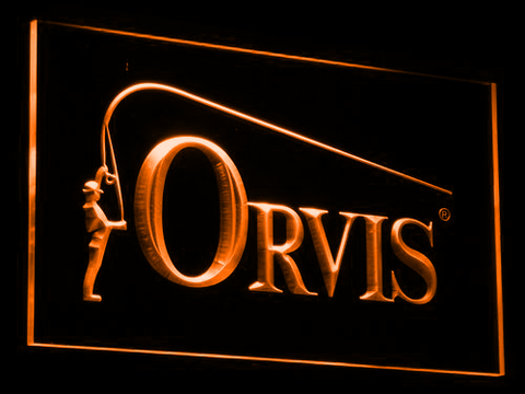 Orvis LED Neon Sign - Orange - SafeSpecial
