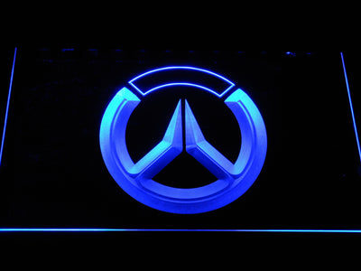 Overwatch Logo LED Neon Sign - Blue - SafeSpecial