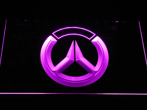 Image of Overwatch Logo LED Neon Sign - Purple - SafeSpecial