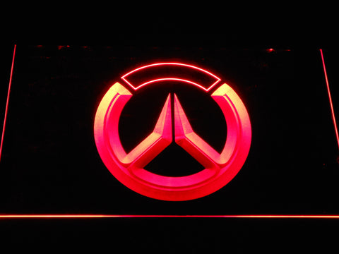 Image of Overwatch Logo LED Neon Sign - Red - SafeSpecial
