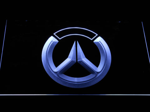 Image of Overwatch Logo LED Neon Sign - White - SafeSpecial