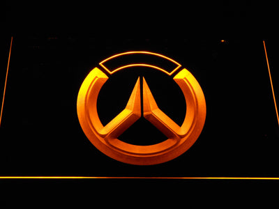 Overwatch Logo LED Neon Sign - Yellow - SafeSpecial