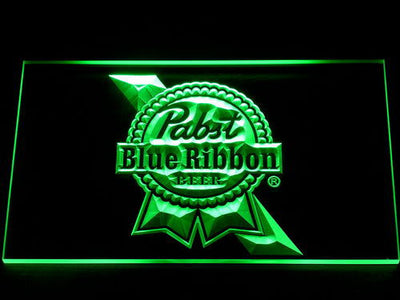 Pabst Blue Ribbon LED Neon Sign - Green - SafeSpecial