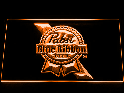 Image of Pabst Blue Ribbon LED Neon Sign - Orange - SafeSpecial