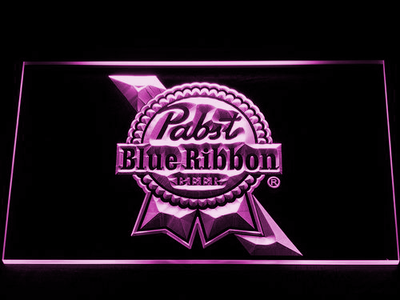 Pabst Blue Ribbon LED Neon Sign - Purple - SafeSpecial