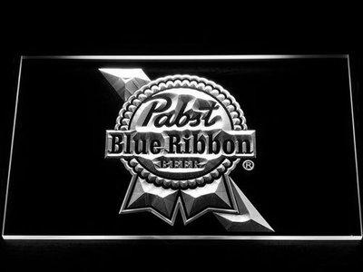 Pabst Blue Ribbon LED Neon Sign - White - SafeSpecial