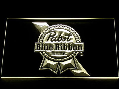 Image of Pabst Blue Ribbon LED Neon Sign - Yellow - SafeSpecial