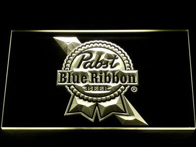 Pabst Blue Ribbon LED Neon Sign - Yellow - SafeSpecial