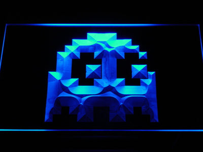 Pac-Man Ghost LED Neon Sign - Blue - SafeSpecial