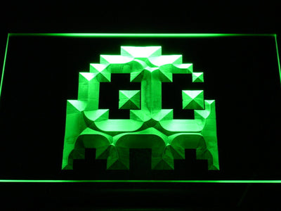 Pac-Man Ghost LED Neon Sign - Green - SafeSpecial