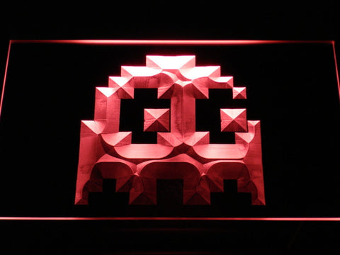 Pac-Man Ghost LED Neon Sign - Red - SafeSpecial