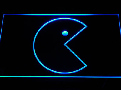 Pac-Man Icon LED Neon Sign - Blue - SafeSpecial