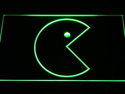 Pac-Man Icon LED Neon Sign - Green - SafeSpecial