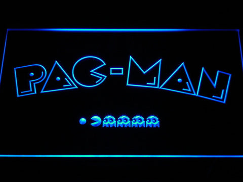 Image of Pac-Man Logo LED Neon Sign - Blue - SafeSpecial
