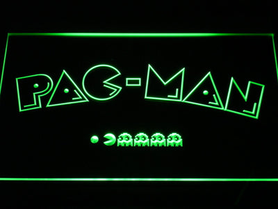 Pac-Man Logo LED Neon Sign - Green - SafeSpecial