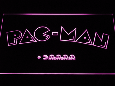 Image of Pac-Man Logo LED Neon Sign - Purple - SafeSpecial