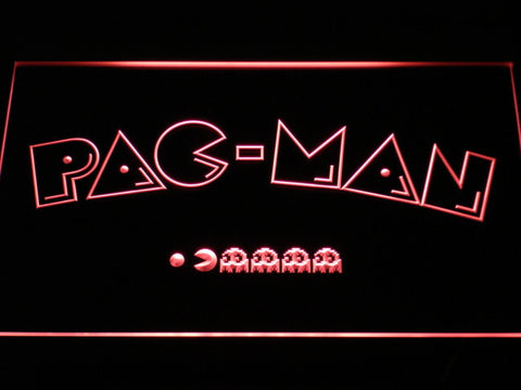Image of Pac-Man Logo LED Neon Sign - Red - SafeSpecial