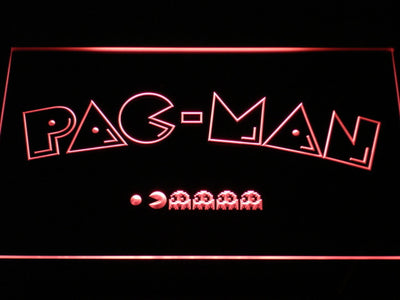 Pac-Man Logo LED Neon Sign - Red - SafeSpecial