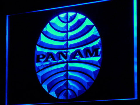 Image of Pan American Airways LED Neon Sign - Blue - SafeSpecial