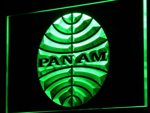 Image of Pan American Airways LED Neon Sign - Green - SafeSpecial