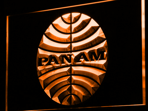 Image of Pan American Airways LED Neon Sign - Orange - SafeSpecial