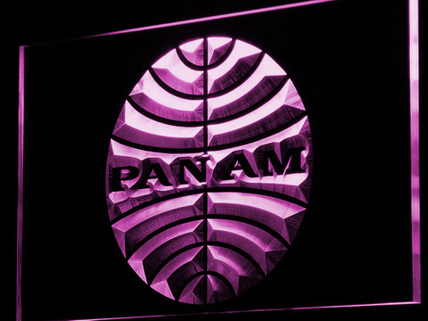 Image of Pan American Airways LED Neon Sign - Purple - SafeSpecial
