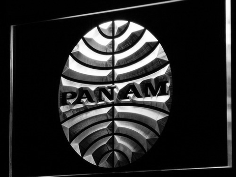 Image of Pan American Airways LED Neon Sign - White - SafeSpecial