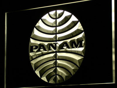 Pan American Airways LED Neon Sign - Yellow - SafeSpecial