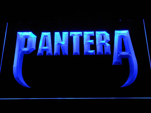 Pantera Fangs LED Neon Sign - Blue - SafeSpecial