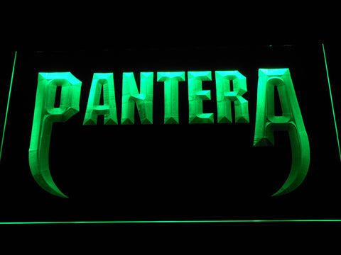 Pantera Fangs LED Neon Sign - Green - SafeSpecial