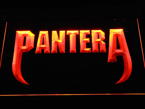 Pantera Fangs LED Neon Sign - Orange - SafeSpecial