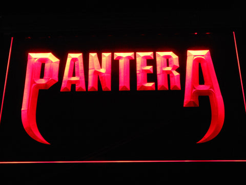 Pantera Fangs LED Neon Sign - Red - SafeSpecial