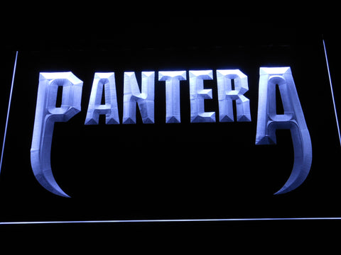 Pantera Fangs LED Neon Sign - White - SafeSpecial