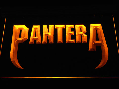 Pantera Fangs LED Neon Sign - Yellow - SafeSpecial