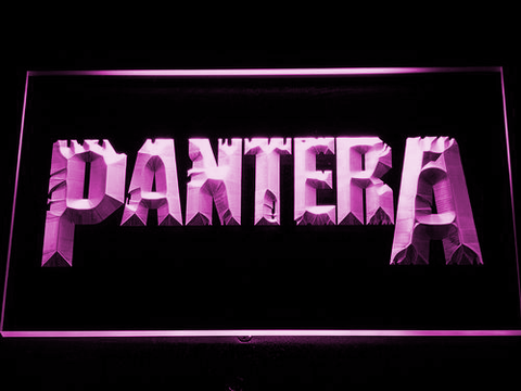 Pantera LED Neon Sign - Purple - SafeSpecial