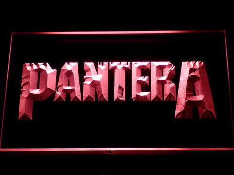 Pantera LED Neon Sign - Red - SafeSpecial