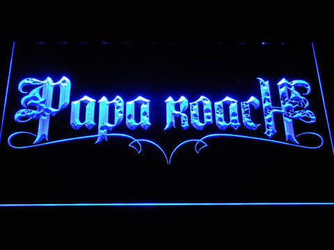 Image of Papa Roach LED Neon Sign - Blue - SafeSpecial