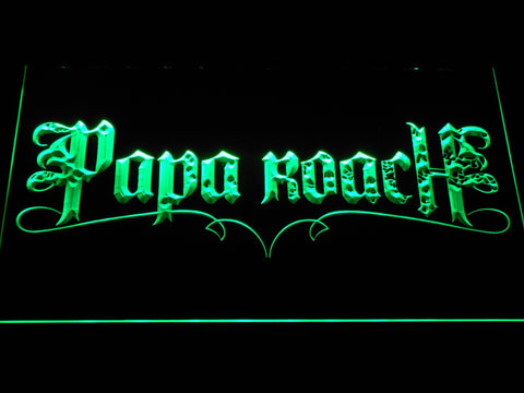Image of Papa Roach LED Neon Sign - Green - SafeSpecial